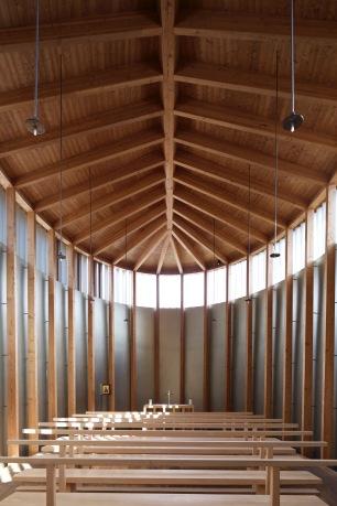 Sumvitg Chapel interior, Peter Zumthor